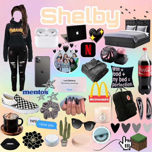 I tried my best, hope you like it Shelby!💕✨ #minecraft #trasher #flower #lips #coca #netflix #macbook #Shelby #airpods #iphone #bed #mentos #vans #macdonalds @shelby-beasley  #freetoedit
