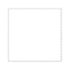 dotted line aesthetic square aestheticsquare freetoedit
