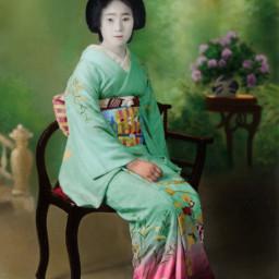 recoloredit recolored geisha oldphoto japan