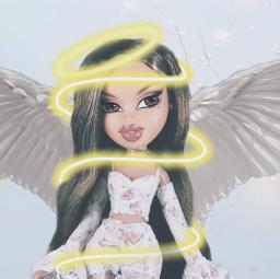 angel halo swirl bratzdoll lightblue freetoedit