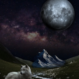 myedit fantasy aesthetic bobross moon freetoedit