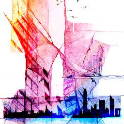 freetoedit cityscape skyscapers boat abstract