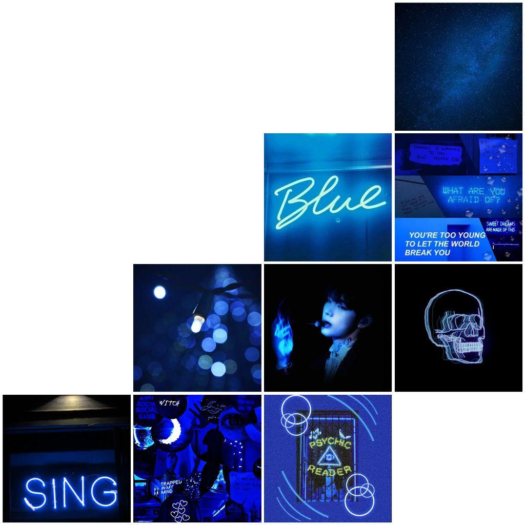 #blue #blueneon #azul #azul💙 #bluesky #nigth #bts #btssugaminyoongi #btssuga #btsblue
