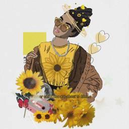 aesthetic sunflower art freetoedit ircoutlineart outlineart