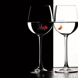 freetoedit fish photomanipulation wineglass