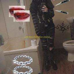 blood knife metal dark aesthetic freetoedit