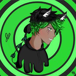 greenaesthetic greeneyes green animeediting editrequest