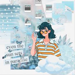freetoedit blue manga ccblueaesthetic blueaesthetic