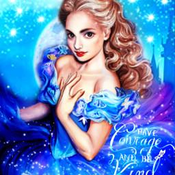 cinderella fantasy princess ccblueaesthetic blueaesthetic