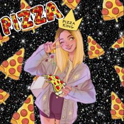 pizza🍕 freetoedit pizza