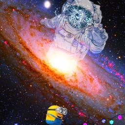 universe space astronaut nasa minions freetoedit
