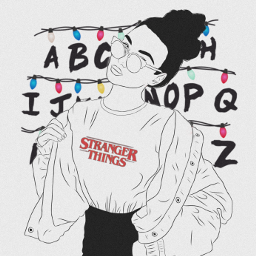 freetoedit strangerthings ircoutlineart outlineart