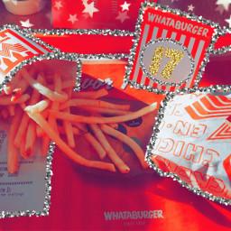 food whataburger fries glitter orange