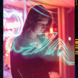 freetoedit neon film vintage neonvibes