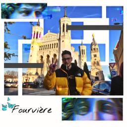 freetoedit collage lyon fourviere vintage