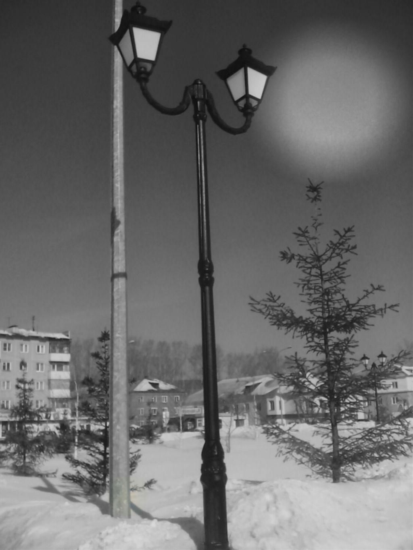 #photography #blackandwhite #winter #snow #lamp