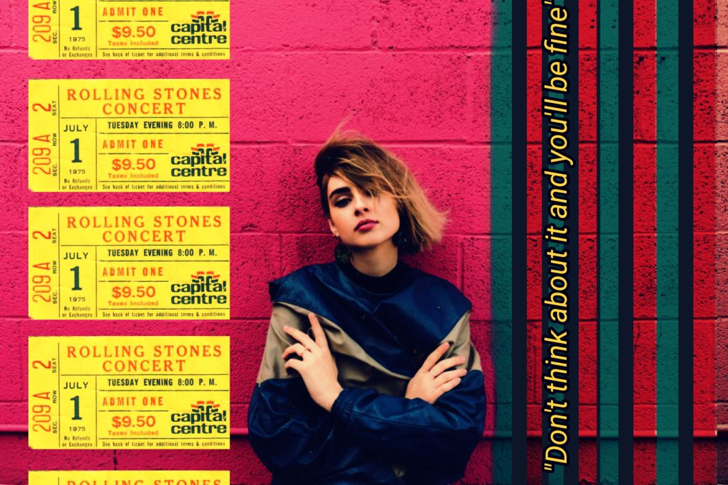 #freetoedit #girl #wall #ticket