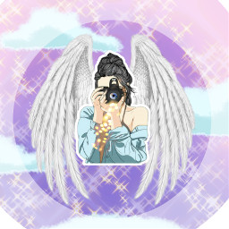 freetoedit girl angel art