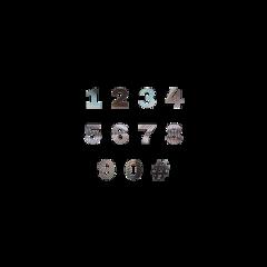 numbers number metallic freetoedit