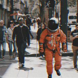 city street travel astronaut people freetoedit