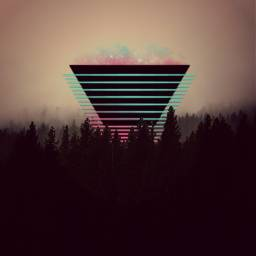 freetoedit triangle neon forest 4asno4i ftestickers scneons