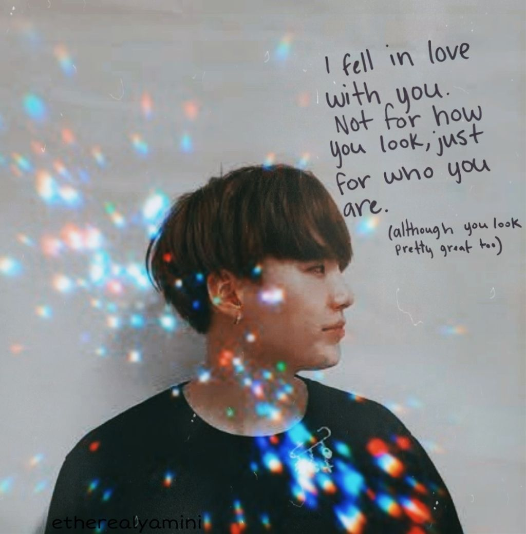 #freetoedit ~Just for who you are 😍❤  #myedit#aesthetic#replay#makeawesome #minyoongi #yoongi#suga#btssuga#oppa#rainbow#light#colors#quotes#phrase#oppa#kpop#kpopidol#btsedit#kpopedit#black