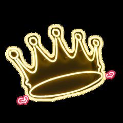 crown queen princess pink neon freetoedit