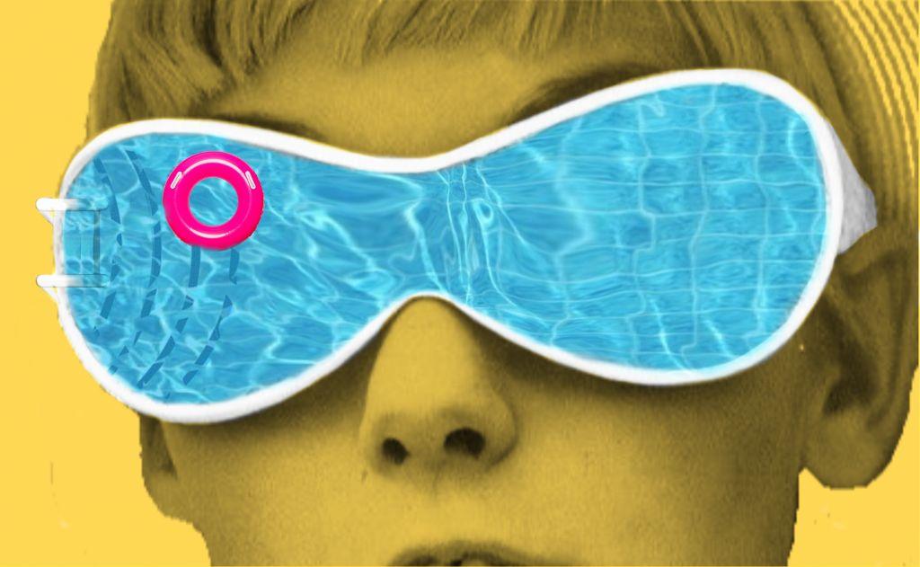 #glasses #pool #blue #water