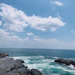 bluesky sky sea blue 2020 freetoedit