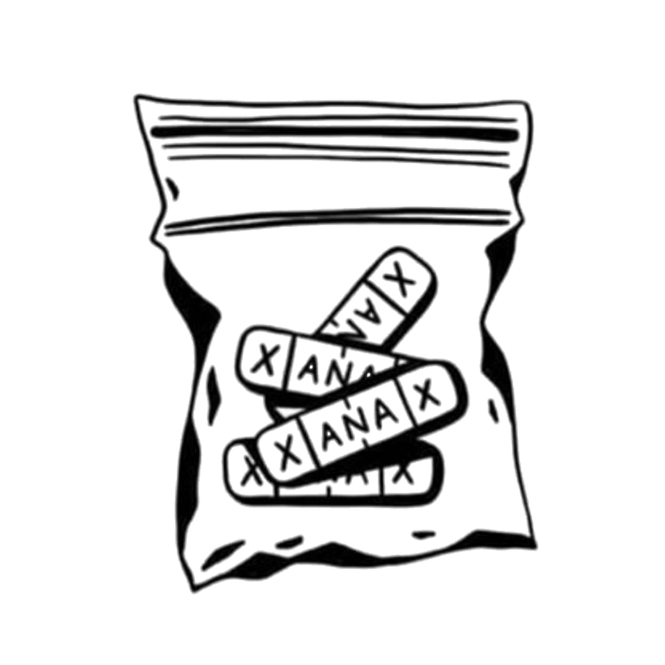 Xanax Aesthetic Tattoo Flash Sticker By Liana Monroe I dont want to have a panic attack while getting tattooed. xanax aesthetic tattoo flash sticker by