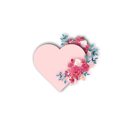 heart pink love flowers freetoedit