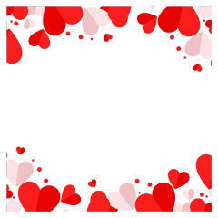 frame heart red white border freetoedit