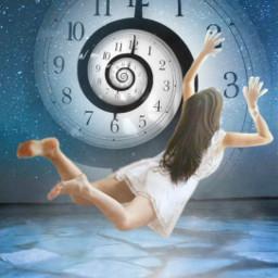 freetoedit fantasyart woman falling floating