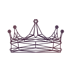 wired outlined crown tiara royal freetoedit