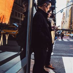 grittystreets streetphotography street reflection phone