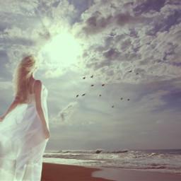 freetoedit woman beach vintage