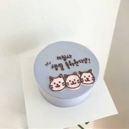 aestheticbluetheme blue cake
