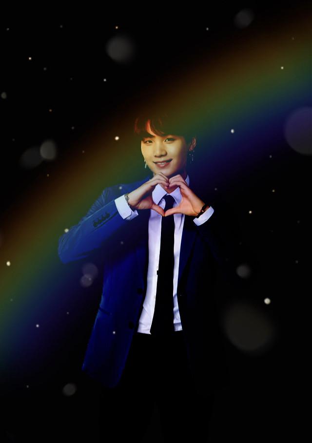 Can we hit 400 followers by my birthday? Feb 10 🎂   ✨Suga✨ -Black rainbow edit 🌈    #bts #BTSsuga #Suga #SugaBTS #MinYoongi  I purple you guys so much!! 💜