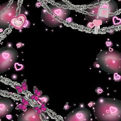pinkgothic pink goth emo hellokitty freetoedit
