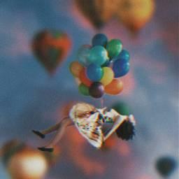 freetoedit balloons girl balloon falling