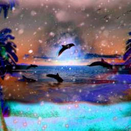 freetoedit winter dolphins island snow
