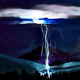 freetoedit lightningstrike mountians