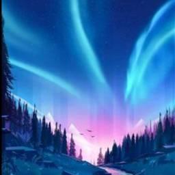 bautifulsky polarhimmel 4upage mountains river
