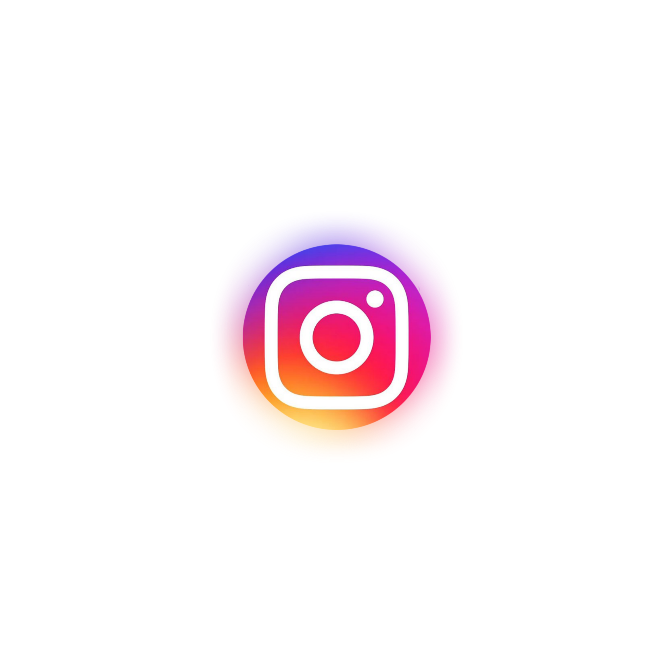 Instagram Logo Icon Neon Circle Sticker By