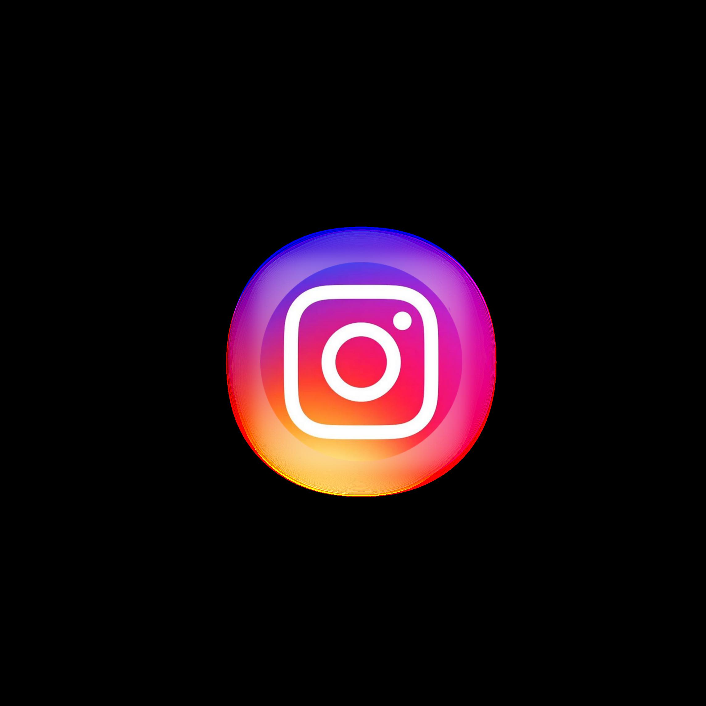 Instagram Logo Icon Neon Circle Sticker By