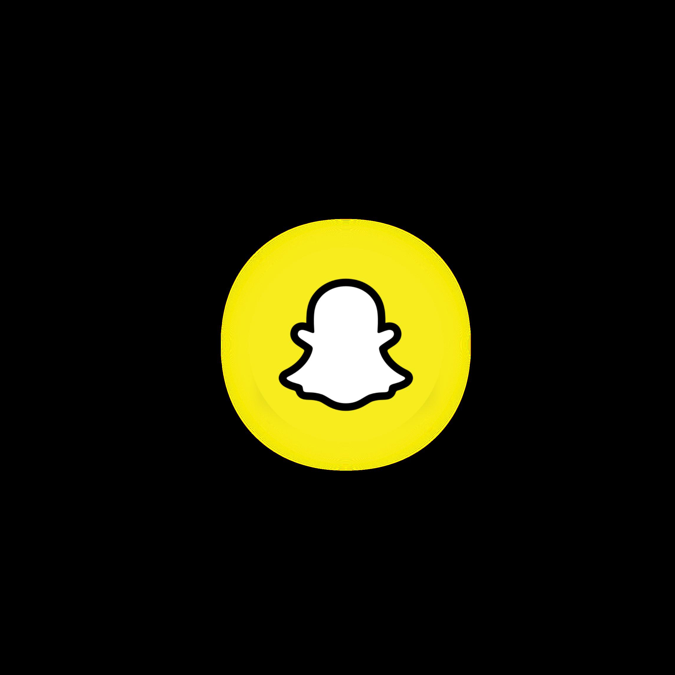 Snapchat Logo Neon Icon Circle Sticker By