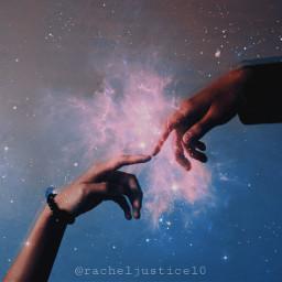 freetoedit madewithpicsart picsart galaxy hands cosmic cosmicwonders mv3 stars nebula surreal
