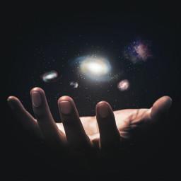 galaxy hand holding dark challenge freetoedit ircuniverseinyourhand universeinyourhand