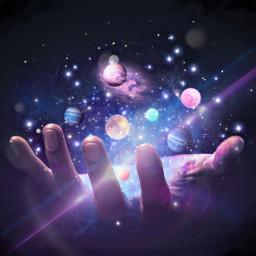 universe galaxy hand edit purple freetoedit ircuniverseinyourhand universeinyourhand
