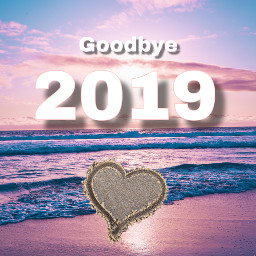 freetoedit newyear goodbye2019 sad happy